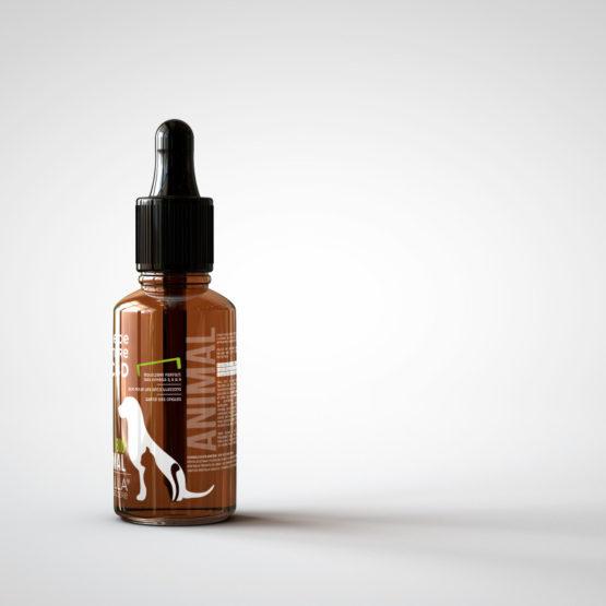 Flacon d'huile de CBD pour animaux