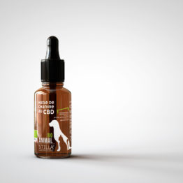 Flacon d'huile CBD pour animaux Stilla.