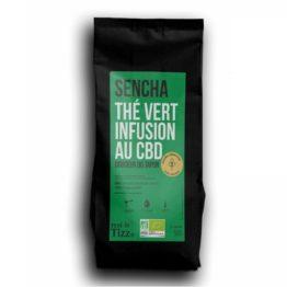 Sachet d'infusion au CBD thé vert sencha rest in tizz